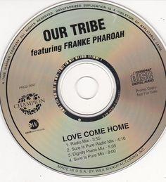 Our Tribe / Franke Pharoah / Love Come Home / Champion Records Promo CD Single / Near Mint #OurTribe #FrankePharoah
