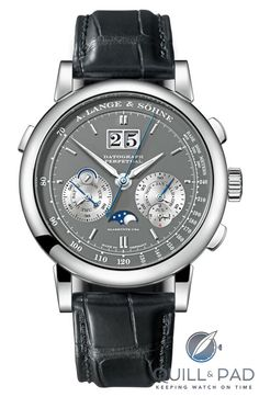 A. Lange & Söhne Datograph Perpetual in white gold with gray dial