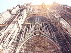 Le Catherdrale, Strasbourg - #France. Strasbourg is an easy going way to start discovering France