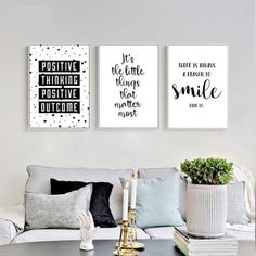 Inspirational Quote Wall Art Canvas Posters Black White Prints Modern Home Decor White Canvas Art, Black And White Canvas, Black And White Prints, Canvas Wall Art, Black White, Wall Decor Quotes, Quote Wall, Diy Quote, Framed Quotes