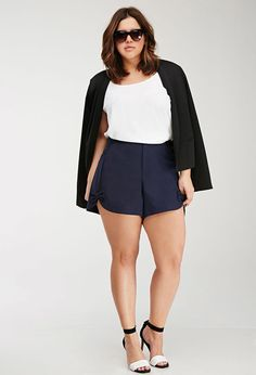 2f5c51faddd Plus Size FOREVER 21+ Bow-Front Shorts Plus Size Looks