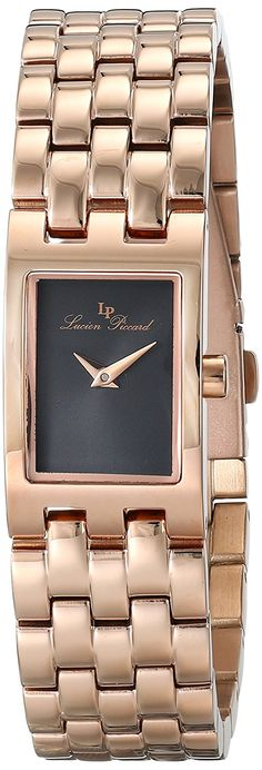 Lucien Piccard Women's LP-10018-RG-11 Kensington Analog Display Japanese Quartz Rose Gold Watch * More info could be found at the image url.