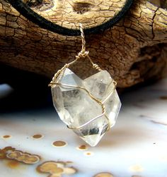 Heart Shaped Quartz Crystal Cluster necklace by CoyoteRainbow, $40.00