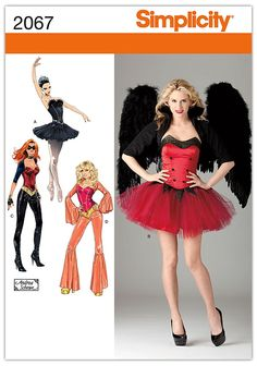 Simplicity Sewing Pattern 2067: Misses' Costumes, R5 (14-16-18-20-22)