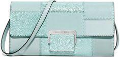 MICHAEL Michael Kors Cynthia Large Patchwork Evening Clutch Bag, Celadon