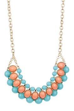 Francesca Resin Stone Bib Necklace by Monique Leshman on @HauteLook