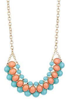 Francesca Resin Stone Bib Necklace by Monique Leshman on @HauteLook