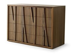 Free standing wooden chest of drawers Moraar Collection by Passoni Nature | design Davide Cumini