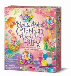 4M Mould & Paint - Glitter Fairy - £8.99 - A great range of 4M Mould Paint Glitter Fairy - FREE Delivery over £25!