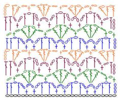 how to crochet instructions Webs Crochet Stitches Chart, Crochet Motif Patterns, Crochet Borders, Stitch Patterns, Knitting Patterns, Granny Square Crochet Pattern, Crochet Diagram, Crochet Dishcloths, Crochet Instructions