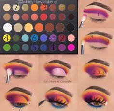 Makeup Eye Looks, Eye Makeup Steps, Eye Makeup Art, Colorful Eye Makeup, Dark Makeup, Crazy Makeup, Skin Makeup, Sparkle Makeup, Makeup Morphe