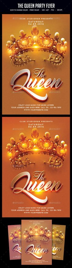 Queen Birthday Flyer  Queen Birthday Flyer Template And Psd