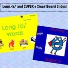 These Smartboard slides are intended to introduce long /a/ words and the use of SUPER e at the end of long vowel words.  It's perfect for the end o...