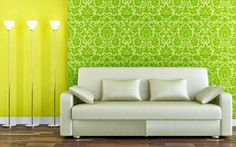 15 Beautiful Living Room Wall Wallpaper Design Ideas For Your Minimalist Home - FreeDSGN Living Room Green, Living Room On A Budget, Living Room Colors, Living Room Decor, Living Room Wall Wallpaper, Of Wallpaper, Interior Wallpaper, Temporary Wallpaper, Wallpaper Designs