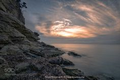 Watching the sunset from the rocks (Yiannis Chatzipanagiotis / KOS / GREECE) #NIKON D810 #landscape #photo #nature
