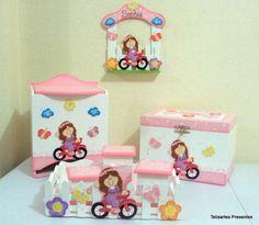 Kit Bebê Menina Na Bicicleta