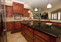 Traditional Kitchen - Rich Cherry Cabinets