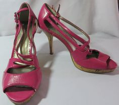 """CATO"" PINK SIZE 9 HEELED STRAPPY SHOES - PLEASE SEE ALL PICTURES #CATO #Strappy"