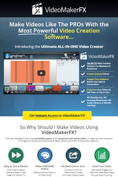 Make videos like the pros with the most powerful video creation software. Sales Letter, First Video, Most Powerful, Made Video, You Videos, Software, The Creator, Marketing, Business