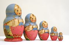 Russian nesting dolls....a chotchke I appreciate, mainly because my baby likes them so much.