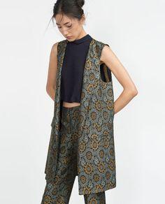 Image 2 of JACQUARD WAISTCOAT from Zara