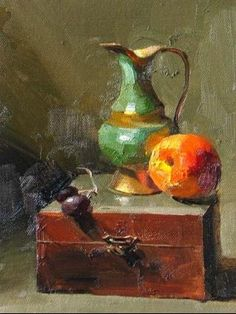 Qiang Huang- Gallery of Paintings by Texas artist Qiang Huang on… Still Life Images, Still Life Art, Matte Painting, Painting & Drawing, Still Life Oil Painting, Pics Art, Impressionist Art, Fashion Painting, Artist Gallery