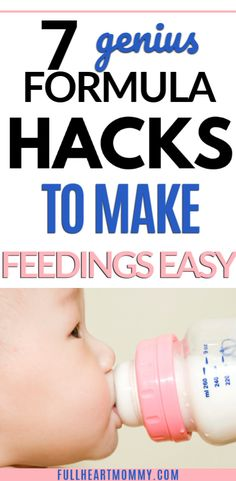 First time mom or new to formula? Mom tested bottle and formula feeding hacks that will save you time! These are the formula feeding essentials and products you need to make mealtime for your baby easier. New Mom Quotes, Bottle Feeding, Mom Advice, First Time Moms, Baby Feeding, New Moms, Save Yourself, Breastfeeding, Make It Simple