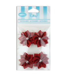 Offray Rhinestone Center Flower Ribbon Accessory