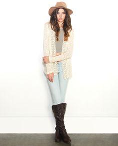 Crochet Trim Open Cardi | Wet Seal