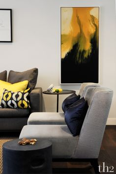 22.8.2015 th2designs © A touch of vibrant yellow to brighten up your sitting room.