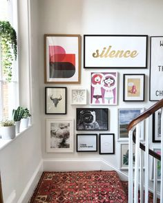 Ideas Wall Gallery Design Hallways For 2019 - Hall Diy ideas Flur Design, Wall Design, Diy Design, Design Bedroom, Design Art, Design Ideas, Reproductions Murales, Gallery Wall Layout, Stairway Gallery