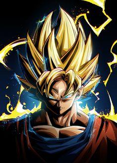 'Dragon Ball Goku' Poster by Nikita Abakumov | Displate