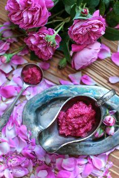 Przecier różany - Zen w kuchni Preserves, Food Inspiration, Deserts, Vegetables, Jars, Wallpaper, Garden, Beautiful, Tips