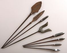 Yajiri / yanone (arrow heads), 8 piece set with several kind of forms and sizes.