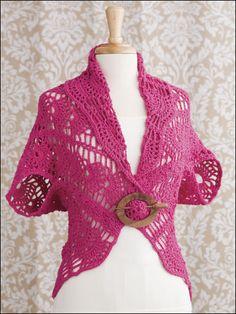 Summer Turtleback Jackets crochet pattern download from AnniesCatalog.com -- Pattern includes 2 designs!