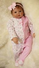 """22"""" real babies dolls for sale silicone reborn dolls for girls toys gift reborn bonecas alive bebe(China)"""
