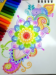 Dibujos Zentangle Art, Zentangle Drawings, Mandala Drawing, Mandala Painting, Art Drawings, Zentangles, Doodle Designs, Doodle Patterns, Zentangle Patterns