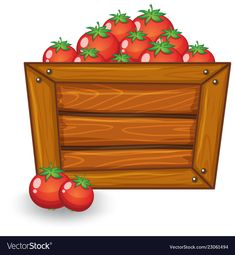 Tomato on wooden board vector image on VectorStock Healthy Vegetables, Organic Vegetables, Cooking Clipart, Pumpkin House, Health And Fitness Magazine, Mushroom House, Salad Topping, Kitchen Images, Food Drawing