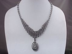 Chainmail Shrug Necklace with Locket by RingedDesigns on Etsy, $36.98