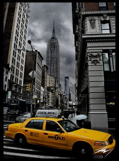 NYC looking particularly dramatic. Can't wait to visit the big apple again!