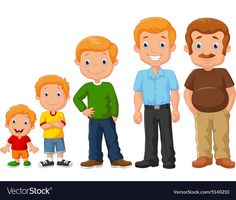 Development stages of man vector image on VectorStock Preschool Family, Preschool Classroom, Preschool Worksheets, All About Me Activities, Science Activities, Family Relationship Chart, Autism Learning, Storybook Characters, Man Vector