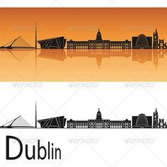 Dublin Skyline  #GraphicRiver         Dublin skyline in orange background in editable vector file     Created: 15May13 GraphicsFilesIncluded: VectorEPS Layered: No MinimumAdobeCSVersion: CS Tags: architecture
