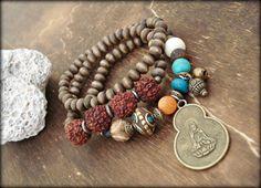 Yoga Bracelet  Yoga Jewelry Buddha Bracelet  by HandcraftedYoga, $43.00