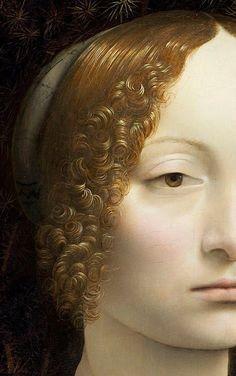 Leonardo da Vinci - Ginevra de Benci (detail), 1474-78