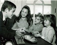 A young George Clooney with his father Nick Clooney, mother Nina Bruce and sister Ada Clooney