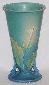 Roseville Thornapple Blue Vase