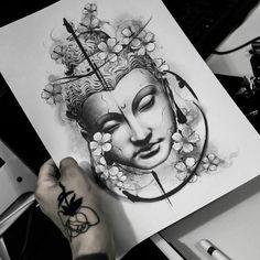 dessins de tatouage 2019 japanese with tattoos - - Tattoo Designs Photo Buddha Tattoos, Buddha Tattoo Design, Body Art Tattoos, Tattoo Drawings, Small Tattoos, Sleeve Tattoos, Tattoos For Guys, Tattoos For Women, Cool Tattoos