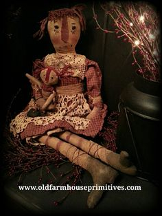 Black faceless Primitive Little Orphan Mammy doll sculpted Paper Patten