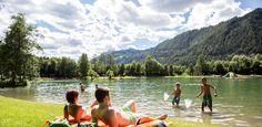 Liegewiese am Badesee Ried Mountains, Nature, Travel, Family Activity Holidays, Summer, Naturaleza, Viajes, Traveling, Natural