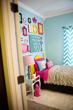 Bright colorful girls room